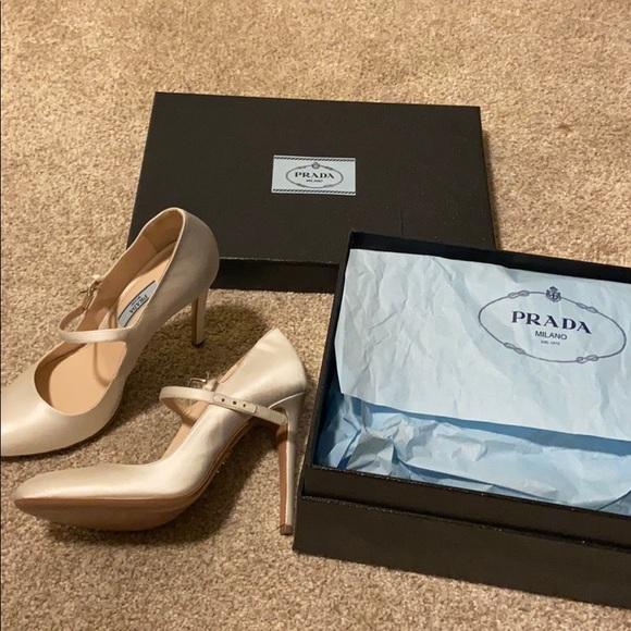 Wedding Shoes Prada Mary Jane Ivory